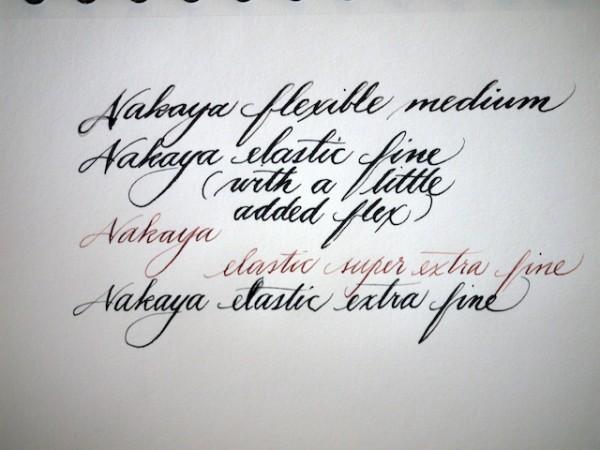 Nakaya nibs - writing samples