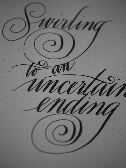 Swirling to an uncertain ending