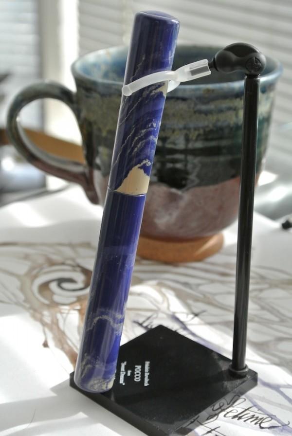 The Mina in blue-beige ebonite