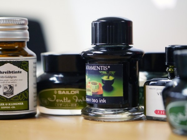 A gaggle of green inks